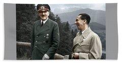 Adolf Hitler Joseph Goebbels Berghof Retreat  Number 2 Agfacolor Heinrich Hoffman Photo Circa 1942 Beach Sheet