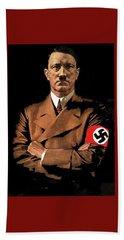 Adolf Hitler Painting Circa  1940 Color Added 2016 Beach Sheet
