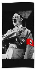 Adolf Hitler Ranting 1  Beach Sheet by David Lee Guss
