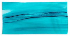 Beach Towel featuring the painting Adrift In A Sea Of Blues Abstract by Nikki Marie Smith