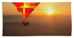 Beach Towel featuring the photograph Adrift In The Mist At Sunrise by Ray Warren