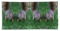 Advancing Army Of Squirrels Beach Towel