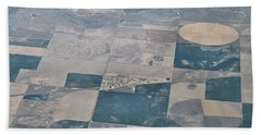 Beach Towel featuring the photograph Aerial 1 by Steven Richman