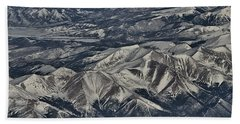 Beach Towel featuring the photograph Aerial 4 by Steven Richman