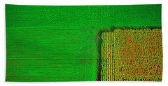 Aerial Farm Mchenry Il  Beach Sheet by Tom Jelen