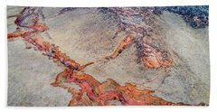 aerial landscape abstract of Colorado foothills Beach Towel