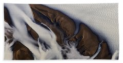 Aerial Photo Thjosa Iceland Beach Towel