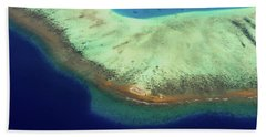Beach Towel featuring the photograph Aerial View Of Coral Reef Formation. Maldives by Jenny Rainbow