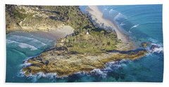 Aerial View Of North Point, Moreton Island Beach Towel