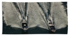 Aerial Wash Beach Towel