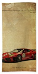Aerodynamics Are For People Who Cant Build Engines. Enzo Ferrari Quote Beach Towel