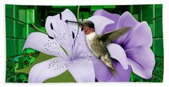 Beach Sheet featuring the mixed media Aeronautics Humming Bird by Marvin Blaine
