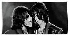 Aerosmith Toxic Twins Mixed Media Beach Towel