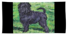 Beach Towel featuring the painting Affenpinscher by Lee Ann Shepard