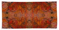 Aflame With Flower Quad Hotwaxed Version Of Acrylic/watercolour Beach Towel