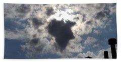 Africa Cloud Shape  Beach Towel by Don Koester