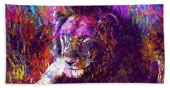 Beach Sheet featuring the digital art Africa Safari Tanzania Bush Mammal  by PixBreak Art