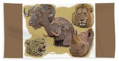 African Big Five Beach Sheet