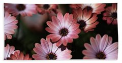 African Daisy Zion Red Beach Towel