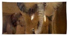 African Elephant Beach Towel