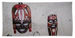 African Face Masks Beach Towel