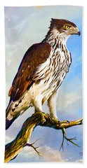 African Hawk Eagle Beach Towel
