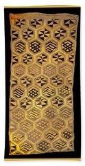 Beach Towel featuring the digital art African Kuba Cloth Print by Vagabond Folk Art - Virginia Vivier