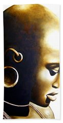 African Lady - Original Artwork Beach Towel