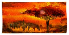 African Landscape Beach Towel by Caito Junqueira