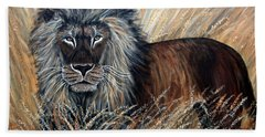 African Lion 2 Beach Towel
