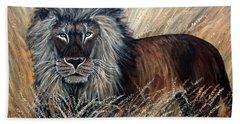 African Lion 2 Beach Sheet