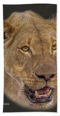 African Lioness Tee Beach Towel