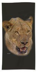 African Lioness Tee Beach Sheet