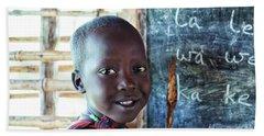 Maasai School Child Beach Sheet