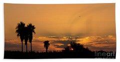 African Style Sunset 02 Beach Towel