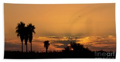 African Style Sunset 02 Beach Sheet