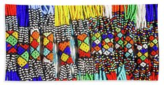 African Tribal Necklaces Beach Towel