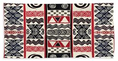 African Tribal Ritual Design Beach Sheet