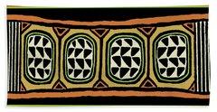 Beach Towel featuring the digital art African Tribal Textile by Vagabond Folk Art - Virginia Vivier