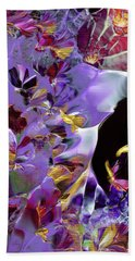 African Violet Awake #2 Beach Towel