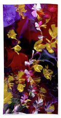 African Violet Awake #3 Beach Towel