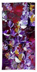 African Violet Awake #4 Beach Towel