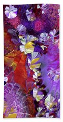 African Violet Awake #5 Beach Towel