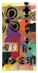 Afro Collage - H Beach Towel