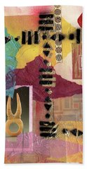 Afro Collage - J Beach Towel