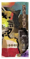 Afro Collage - K Beach Towel