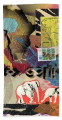 Afro Collage - M Beach Towel
