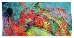After Every Storm The Sun Will Smile - Colorful Abstract Art Painting Beach Sheet