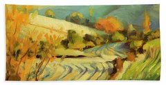 Beach Towel featuring the painting After Harvest by Steve Henderson