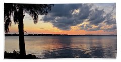 After Sundown At Wabasso Bridge  Beach Towel